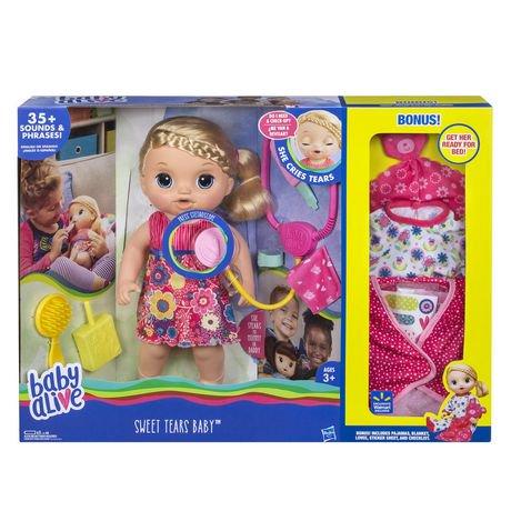Baby Alive Sweet Tears Baby | Walmart Canada