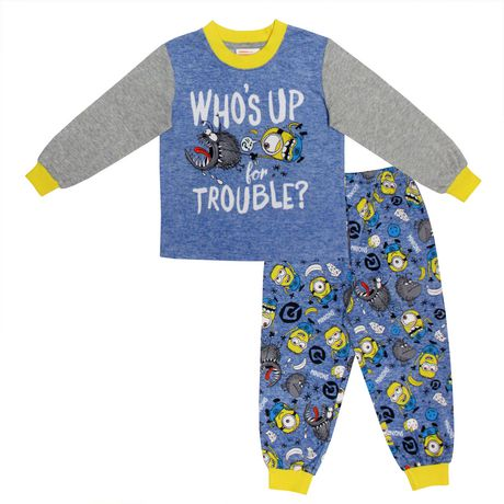 f4475ab8a5ce31 Despicable Me 3 Who s up for Trouble - Minions Toddler Boys  Top And  Pantalon Pajamas ...
