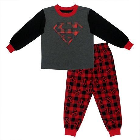 Ensemble 2 morceaux pyjama haut et pantalon logo for Pyjama a carreaux