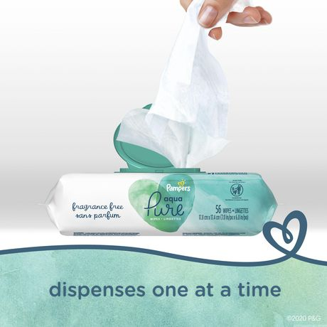 Pampers Aqua Pure Sensitive Baby Wipes 6X Pop-Top - image 6 of 6