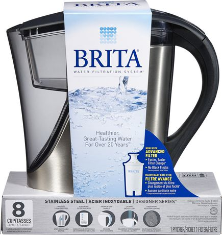 brita® stainless steel pitcher | walmart canada
