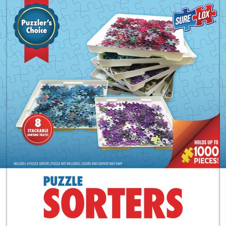 Sure-Lox Puzzle Sorters 8 Stackable Sorting Trays