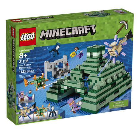 Lego Minecraft The Ocean Monument 21136 Walmart Canada