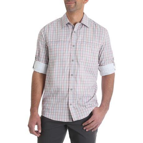 Wrangler Men 39 S Longsleeve Utility Shirt With Roll Tab