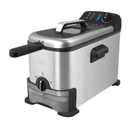 Kalorik 3.2 Quarts Deep Fryer with Oil Filtration System, Stainless Steel - image 1 of 6