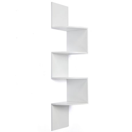 etagere d 39 angle bois blanc. Black Bedroom Furniture Sets. Home Design Ideas