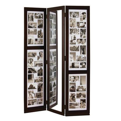 Preston Floor Triple Panel Collage(42-4x6, 2-4x4) and Mirror, 42\