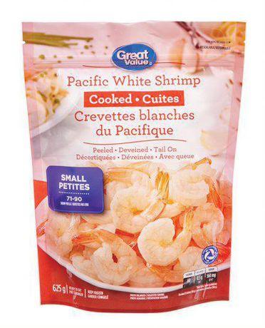 Crevettes blanches du Pacifique cuites Great Value - image 1 de 2