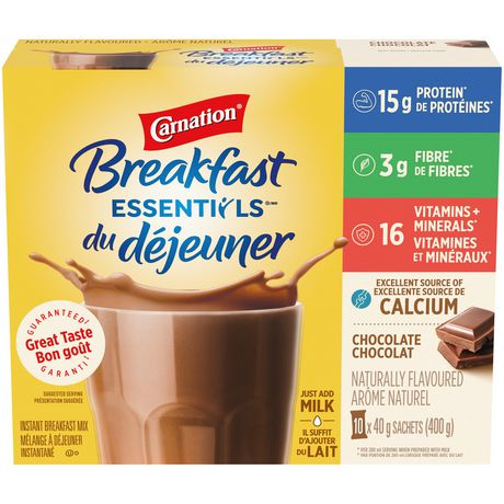 Carnation Breakfast Essentials, Breakfast Drink Mix, Chocolate