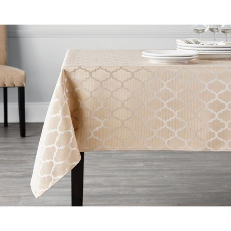hometrends Geo Tablecloth