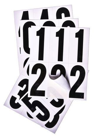 Chiffres pré-emballés Hillman de 3 po en noir/blanc - image 1 de 2