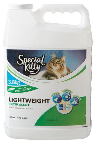 Litière légère agglomérante au parfum frais ramassable pour chats de Special Kitty - image 1 de 2