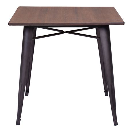 Zuo Modern One Piece Titus Rusty Wood Dining Table