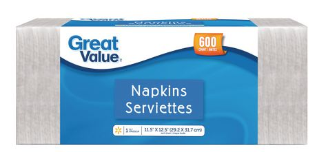 """Great Value 11.5""""x12.5"""" Paper Napkins - image 1 of 1"""
