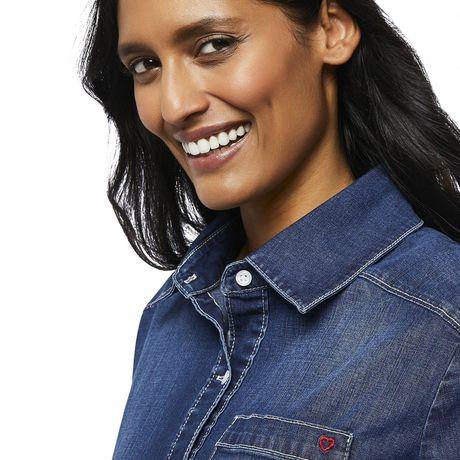 Love Ellen DeGeneres Chemise en jean pour femmes - image 4 de 6