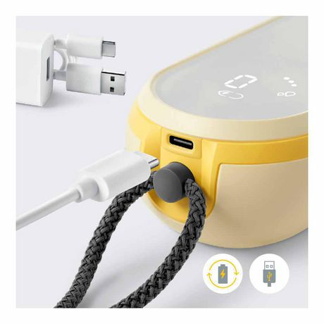 Medela Freestyle Flex Breast Pump, Closed System Quiet Portable Double Electric Breast Pump, Mobile Connected Smart Pump with Touch Screen LED Display and USB Chargeable Battery - image 4 of 9