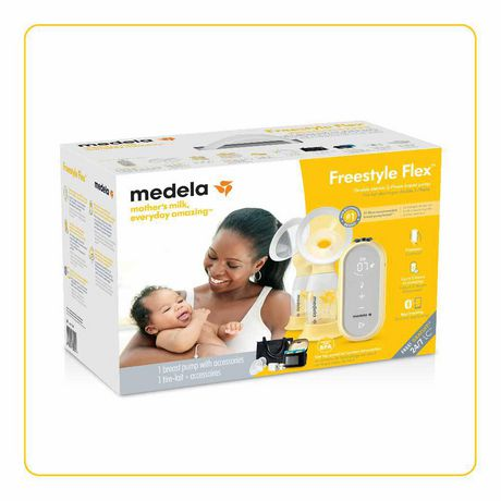Medela Freestyle Flex Breast Pump, Closed System Quiet Portable Double Electric Breast Pump, Mobile Connected Smart Pump with Touch Screen LED Display and USB Chargeable Battery - image 8 of 9