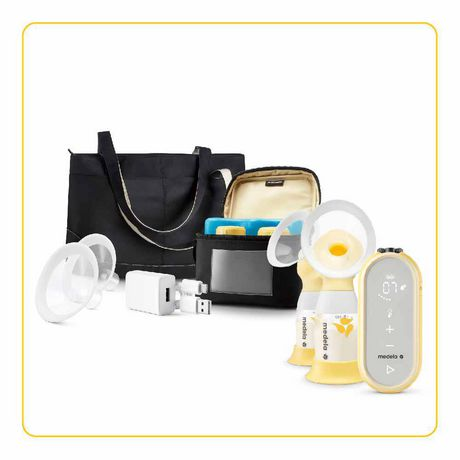 Medela Freestyle Flex Breast Pump, Closed System Quiet Portable Double Electric Breast Pump, Mobile Connected Smart Pump with Touch Screen LED Display and USB Chargeable Battery - image 9 of 9