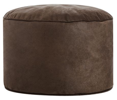 sitting point dotcom cuba brown bean bag ottoman walmart canada. Black Bedroom Furniture Sets. Home Design Ideas