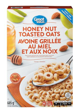 Great Value Family Size Honey Nut Toasted Oats - image 1 of 3
