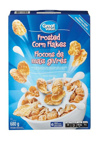 Great Value Family Size Frosted Corn Flakes - image 1 of 3