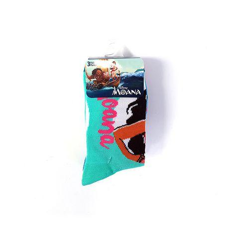 Mi-chaussettes Moana pour filles en paq. de 3 - image 2 de 2