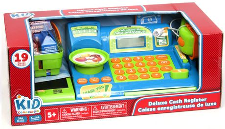 kid connection green deluxe cash register playset walmart canada. Black Bedroom Furniture Sets. Home Design Ideas