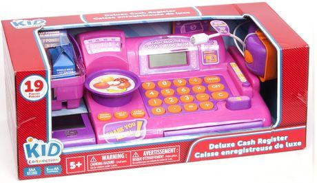 kid connection pink deluxe cash register playset. Black Bedroom Furniture Sets. Home Design Ideas