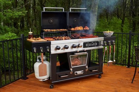 Pit Boss Memphis Ultimate 4-in-1 Gas/Charcoal Smoker - image 5 of 8