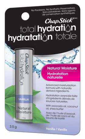 ChapStick Total Hydration (Vanilla Flavour, 1 Blister Pack) Lip Balm Tube, Natural Moisture Lip Care - image 2 of 4