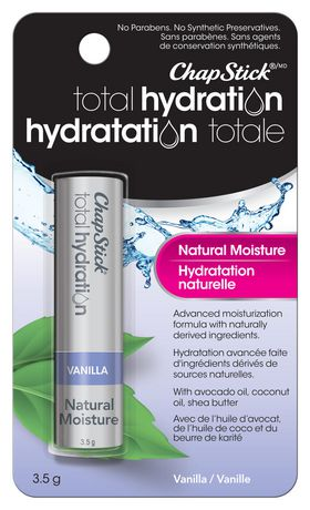 ChapStick Total Hydration (Vanilla Flavour, 1 Blister Pack) Lip Balm Tube, Natural Moisture Lip Care - image 1 of 4