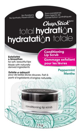 ChapStick Total Hydration (Peppermint Flavour, 1 Blister Pack) Conditioning Lip Scrub, Exfoliates - image 2 of 4