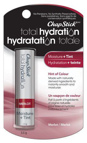 ChapStick Total Hydration (Merlot, 1 Blister Pack) Lip Balm, Moisture & Tint, Hint of Colour - image 1 of 4