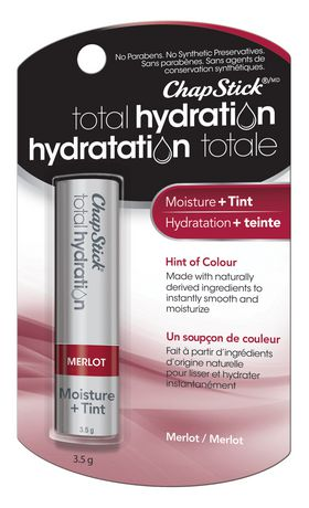 ChapStick Total Hydration (Merlot, 1 Blister Pack) Lip Balm, Moisture & Tint, Hint of Colour - image 2 of 4