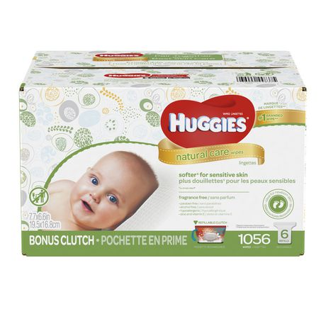 Huggies Natural Care Baby Wipes, Fragrance Free - image 1 of 2