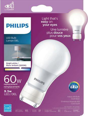 Philips 9 5w A19 Gu24 Bright White Led Bulb
