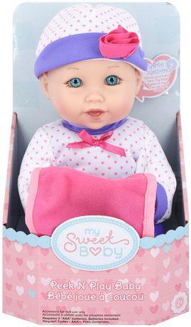 my sweet baby peek n play baby doll walmart canada