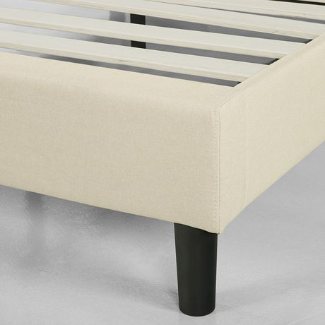 Zinus Square Stitched Upholstered Platform Bed Frame