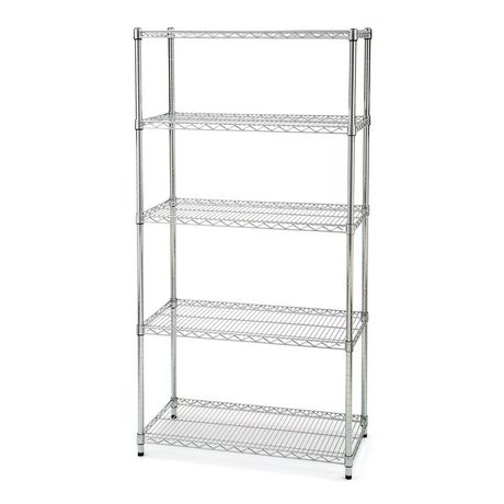 Wire Shelf Walmart | Seville Classics 5 Shelf Shelving With Wheels Walmart Canada