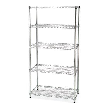 Seville Classics 5 Shelf Shelving with Wheels | Walmart Canada