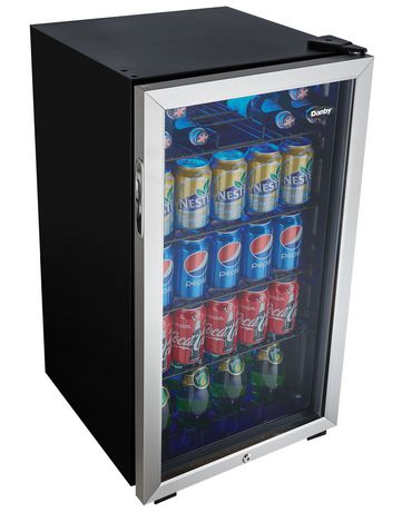 Danby Beverage Fridge 3 3 Cu Ft Dbc120cbls Walmart