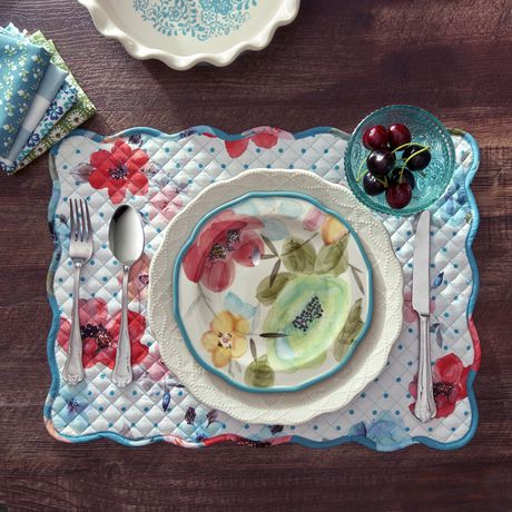 pioneer woman tablecloth. the pioneer woman vintage bloom reversible placemat tablecloth o