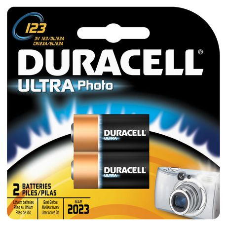 Duracell Ultra Photo 123 3v Batteries 2 Pack Walmart Canada