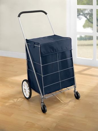Mainstays 4 Wheel Shopping Cart With Bag Walmart Canada