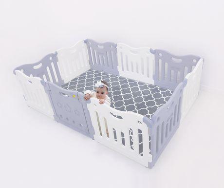 Baby Care FunZone Playpen - Melange Grey   Walmart Canada