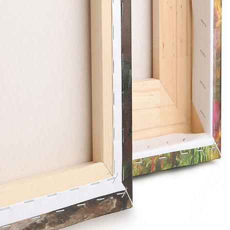 Tableau à toile imprimée Design Art Paysage Panorama Forêt avec rayons de soleil - image 2 de 2
