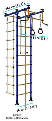 Limikids Comet-2.06 Home Gym - metal rungs covered with plastic with massage bumps- Blue-yellow - image 3 of 9