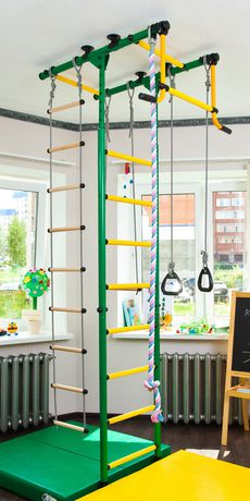 Limikids Comet-2.06 Home Gym - metal rungs covered with plastic with massage bumps- Blue-yellow - image 2 of 9