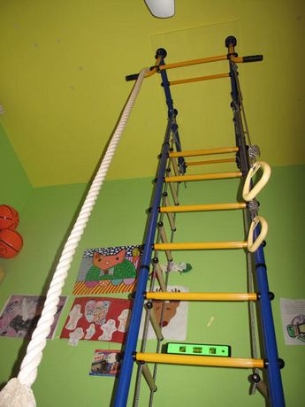 Limikids Comet-2.06 Home Gym - metal rungs covered with plastic with massage bumps- Blue-yellow - image 6 of 9