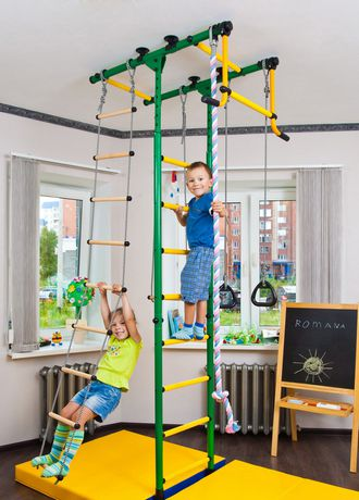 Limikids Comet-2.06 Home Gym - metal rungs covered with plastic with massage bumps- Blue-yellow - image 1 of 9